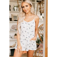 Stars In Your Eyes Button Up Romper (Off White)