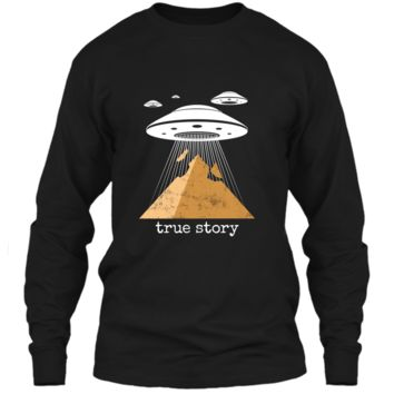 Ancient Alien Theory Novelty  - UFO Conspiracy  LS Ultra Cotton Tshirt