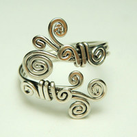sterling silver wire  ring  curly ring Special price by keoops8