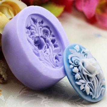 Kitchen Accessories Rose Flower Silicone Fondant Mould Cake Decorating Chocolate Baking Mold Tool RANDOM COLOR (Size: One Size, Color: Multicolor)