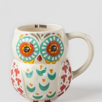 Be Happy Owl Ceramic Mug