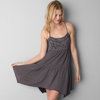 AEO Printed & Embroidered Babydoll Dress