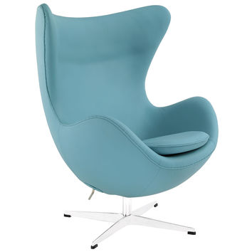 Glove Leather Swivel Accent Chair