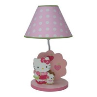 Lambs & Ivy Nursery Lamp with Shade, Hello Kitty and Puppy