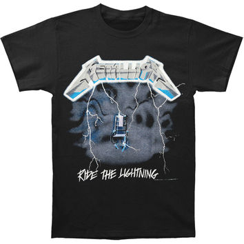 Metallica Men's  Ride The Lightning T-shirt Black
