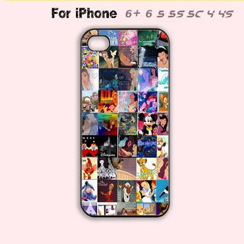 Disney Cute Collage Adorable  Phone Case For iPhone 6 Plus For iPhone 6 For iPhone 5/5S For iPhone 4/4S For iPhone 5C-5 Colors Available