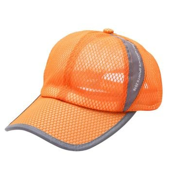 Outdoor Unisex Women Men Breathable Baseball Running Cap Snapback Hats Summer Adjustable Hat