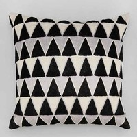 Magical Thinking Embroidered Triangle Pillow- Black & White One