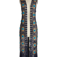 ModCloth Boho Long Sleeveless Cover-up The Best of the Vest