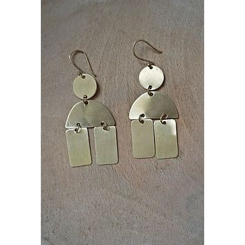 Fair Trade Artisan Made + Solid Brass Earrings