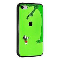 Giving Tree Fruit Cool Iphone 4 4s Tpu Rubber Case Black, Iphone Cover - All Carriers