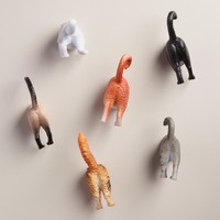 Cat Butt Magnets, Set of 6