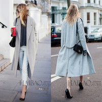 Wool Trench Oversize Women's Coat