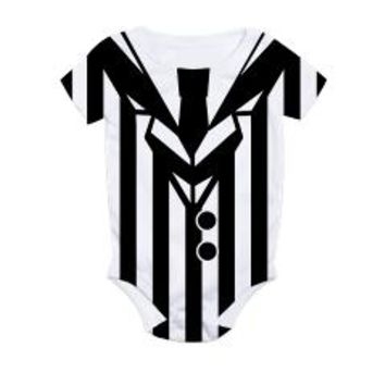 Beetlejuice Baby Costume All Over Print Bodysuit> One Piece Halloween Costumes > Scarebaby Design