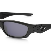 Oakley Straight Jacket Polarized Sunglasses 24-124 Matte Black W/ Grey Iridium