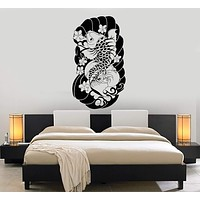 Vinyl Wall Decal Koi Carp Japan Art Japanese Fish Asian Room Decoration Stickers Mural Unique Gift (ig4966)