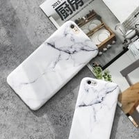 "2017 Hottest New Granite Marble Phone Case Soft TPU Cover For iPhone 7 7plus 6 6s 6splus 6plus 5.5"" Silicon Funda Gel NOT Shinny"