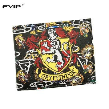 Cool Attack on Titan FVIP New Arrival Wallet Harry Potter Gryffindor//Wonder Woman/Pirates/Miku With Card Holder And Coin Purse Bag AT_90_11