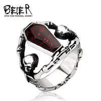 Cool Undertaker Skull Ring Stainless Steel Exclusive Sale Jewelry For Man And Boy BR8-101