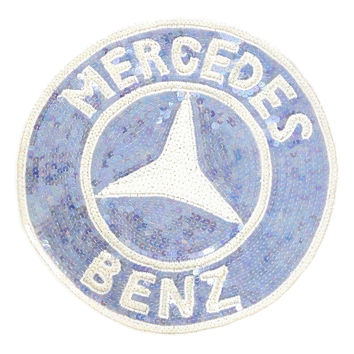 Oversized Mercedes Benz Sequin Patch