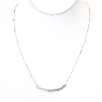 Stay The Night Necklace In Blues