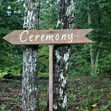 Wedding Sign - Directional - Ceremony - Wooden, Rustic, Reclaimed Lumber, Photo Prop