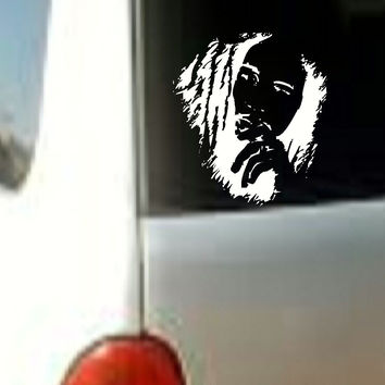 Bob Marley Face MUSIC BAND VINYL DECAL STICKER CAR TRUCK LAPTOP WHITE