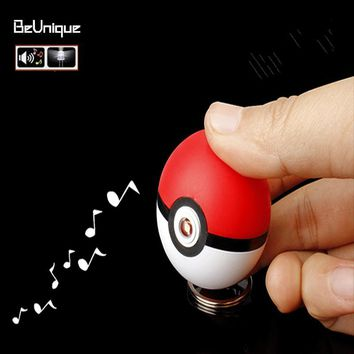 Popular Japanese Comic Pocket Monster LED key chain  fairy ball keychain emitting light & sound vocalization key ringKawaii Pokemon go  AT_89_9