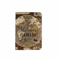 Old World Map Customized Cute Leather Passport Holder - Passport Covers - Passport Wallet_SUPERTRAMPshop