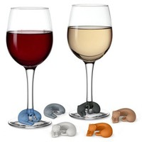 Fred and Friends 'Wine Lives' Kitty Wine Charms | Nordstrom