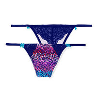 Lace Back V-string Panty - PINK - Victoria's Secret