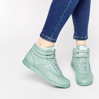 Reebok Freestyle Hi Spirit Mint Green Sneakers