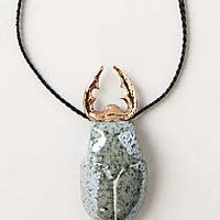 Anthropologie - Moss Beetle Pendant Necklace
