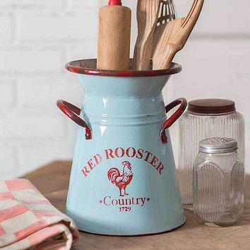 Red Rooster Kitchen Caddy Pitcher