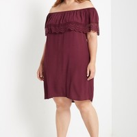 Adora Off the Shoulder Swing Dress Plus Size