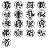 "1"" Wax Seal Initial Letter Stamp x 1"