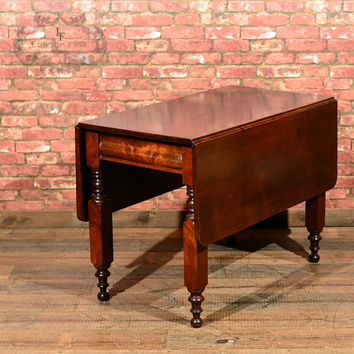 Victorian Mahogany Drop Leaf Dining Table