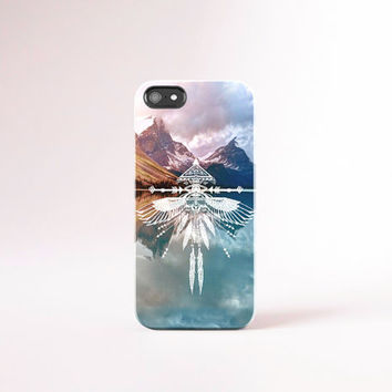 BOHEMIAN iPhone Case, Feather iPhone 5 Case, Arrows iPhone 5s Case Mountain iPhone 4 Case, Tough iPhone 4s Case Native iPhone Cases Woodland