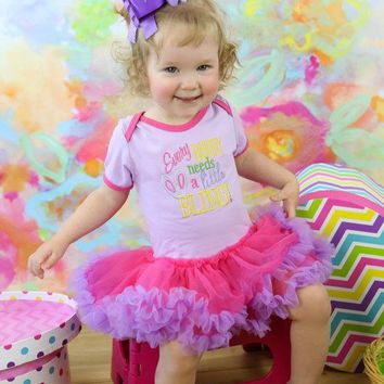 "Girls Easter  ""Every Bunny Needs a Little Bling"" Onesuit Tutu Boutique Outfit"