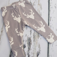 Baby Leggings, Stag Leggings, Baby clothing, Baby Clothes, leggings for babies, leggings for boys, unisex baby, baby boy clothes, deer
