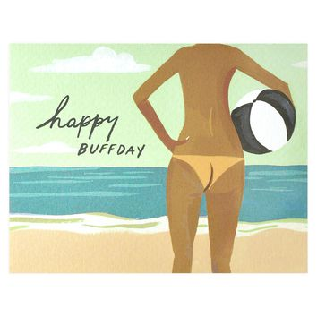 Happy Buff Day Birthday Card