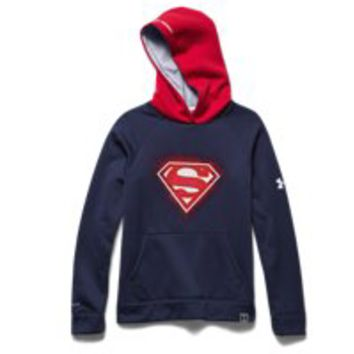 Under Armour Boys' Under Armour Alter Ego Superman Glow-In-The-Dark Storm Hoodie