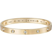 CARTIER - Love 18ct yellow-gold and diamond bracelet | Selfridges.com