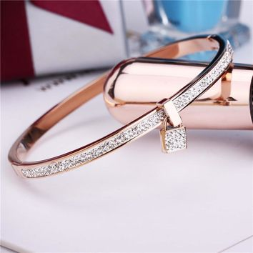 AUGUAU Bangles Bracelet For Women with lock