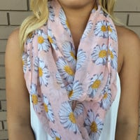 Daisy Infinity Scarf - PINK