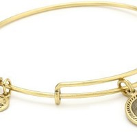 Alex and Ani Womens Seven Swords Charm Bangle Rafaelian Gold Finish One Size