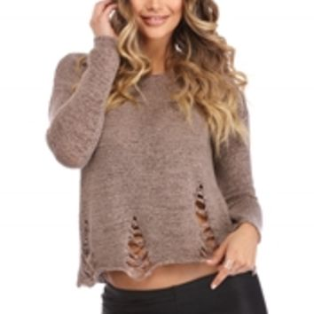 Brown Loosen Up Pullover