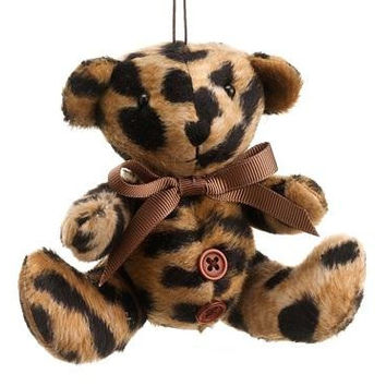 Christmas Ornament - Cheetah Print Teddy Bear