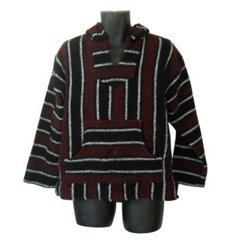Surf Fashion Baja Drug Rugs Hippie Pullover Mexican Drug Rug Mexican Pullover Surf Fashion Ethnic Fashion Baja Clothes Baja Jackets Hippie
