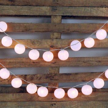 3 meter of white color lantern 20 lights cotton by cottonlight